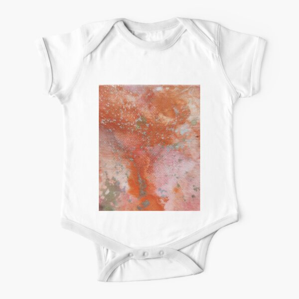 gold and orange Short Sleeve Baby One-Piece