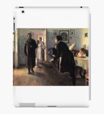 unexpected-visitors-, stylish man, home, childs iPad Case/Skin