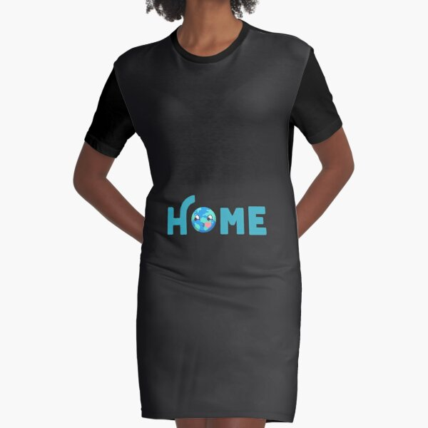 EARTH HOME ART Graphic T-Shirt Dress