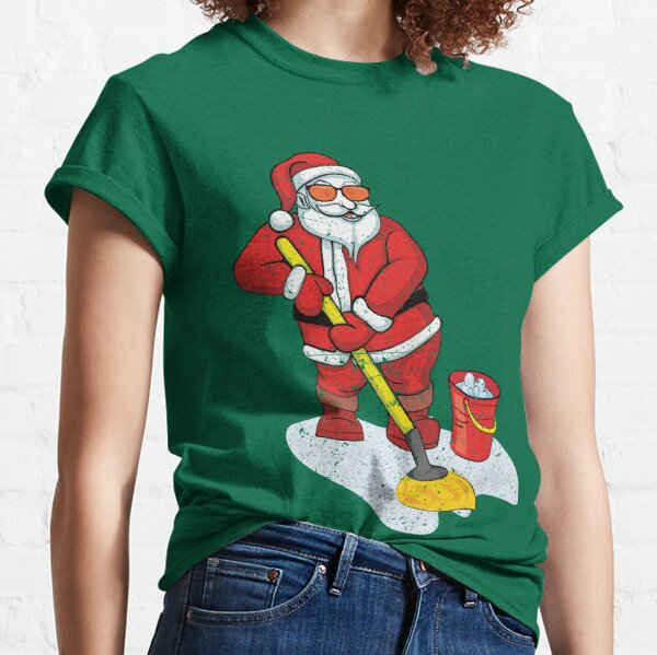 Santa Brought a Mop and Bucket Vintage  Classic T-Shirt