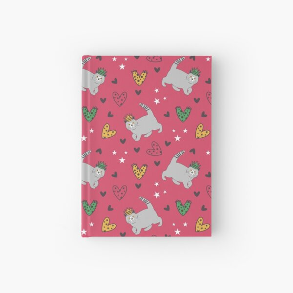 Love British Shorthair Cat in Crown Hardcover Journal