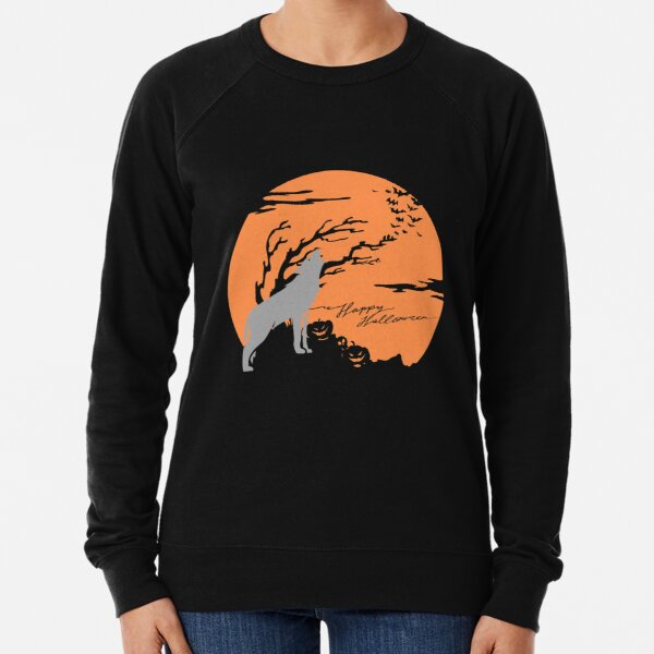 Halloween, Dog Howling Lightweight Sweatshirt