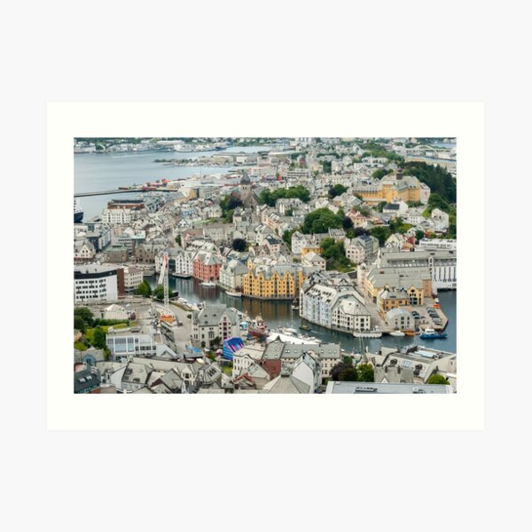 Town of Ålesund in Norway Art Print