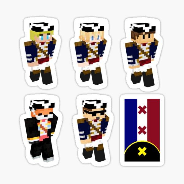 L'manburg members and flag  Sticker