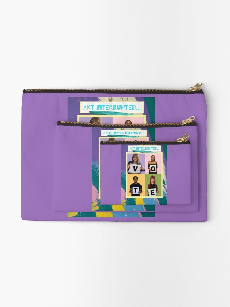 """Alternate view of Abstract & Graphic Design- """"Art Interrupted: VOTE!""""- digital print Zipper Pouch"""