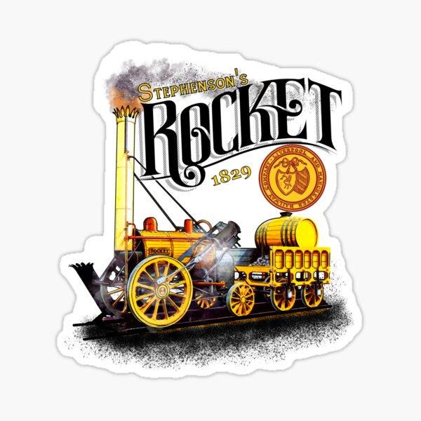 Stephensons Legendary Rocket steam Engine 1829 by Motormaniac Sticker