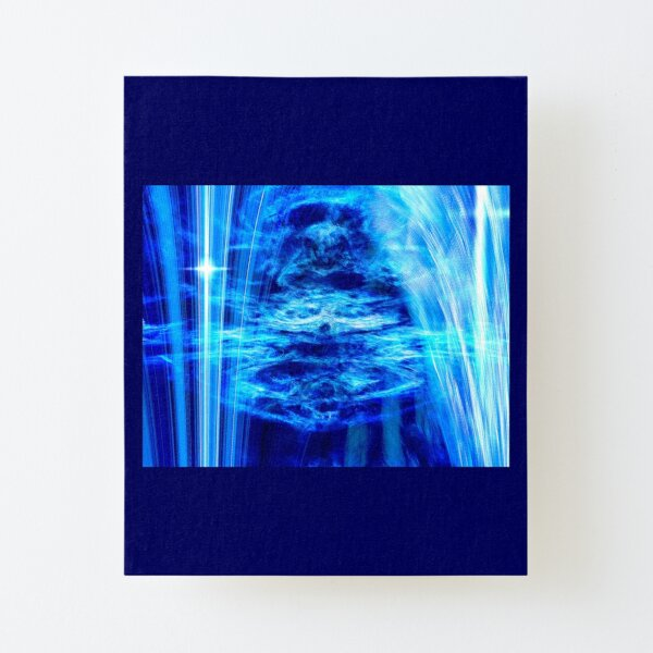 Blue Canvas Mounted Print