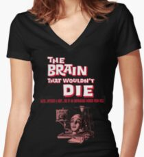 The brain that wouldn't die poster Women's Fitted V-Neck T-Shirt