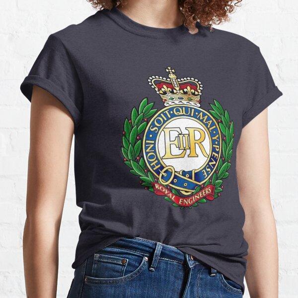 Königliche Ingenieure. Abzeichen. Auf Marine. Classic T-Shirt