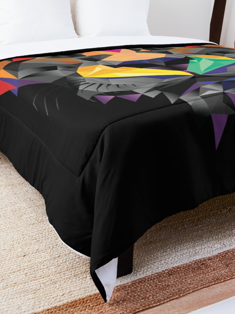 Alternate view of Futuristic Lion design Comforter