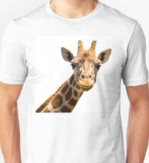 Giraffe head isolated on white background T-Shirt