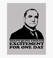 Downton Abbey Carson Excitement Tshirt Photographic Print