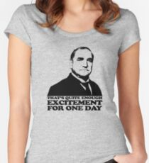 Downton Abbey Carson Excitement Tshirt Women's Fitted Scoop T-Shirt