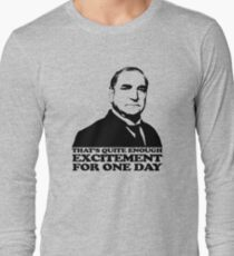 Downton Abbey Carson Excitement Tshirt Long Sleeve T-Shirt
