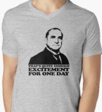 Downton Abbey Carson Excitement Tshirt Men's V-Neck T-Shirt