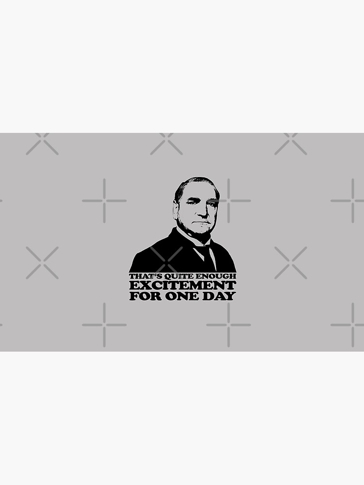 Downton Abbey Carson Excitement Tshirt by theshirtnerd