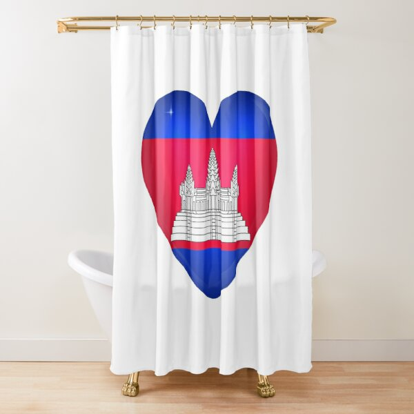 My Heart is Only Cambodia  Shower Curtain