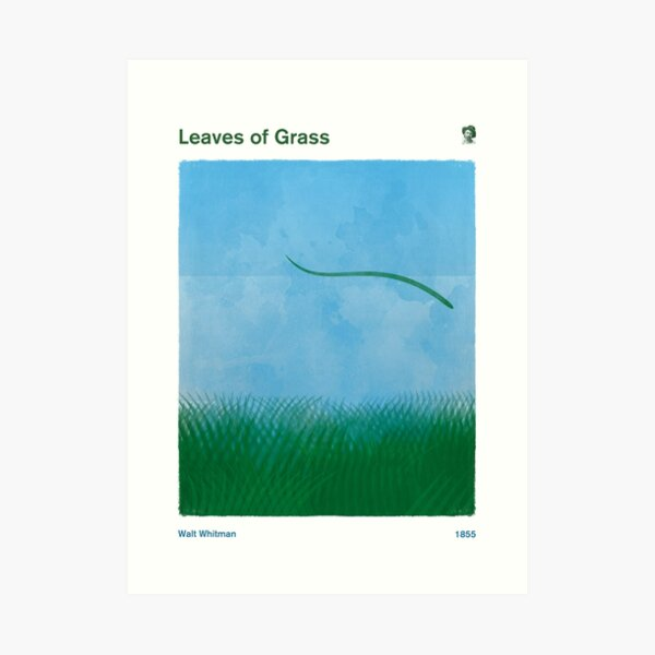 Leaves of Grass - Walt Whitman, Literary Art for Bookworms Art Print