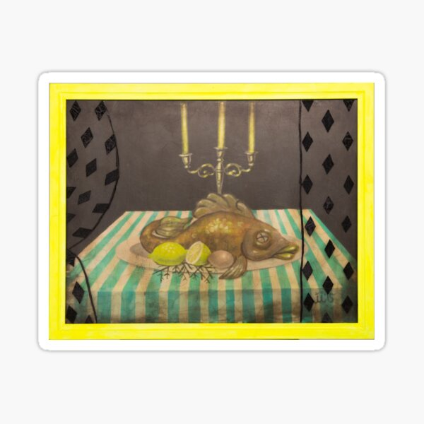 Still Life with Three Candles Sticker