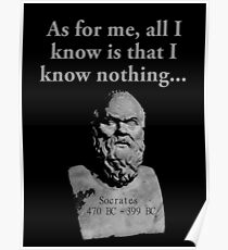 I Know Nothing: Posters | Redbubble