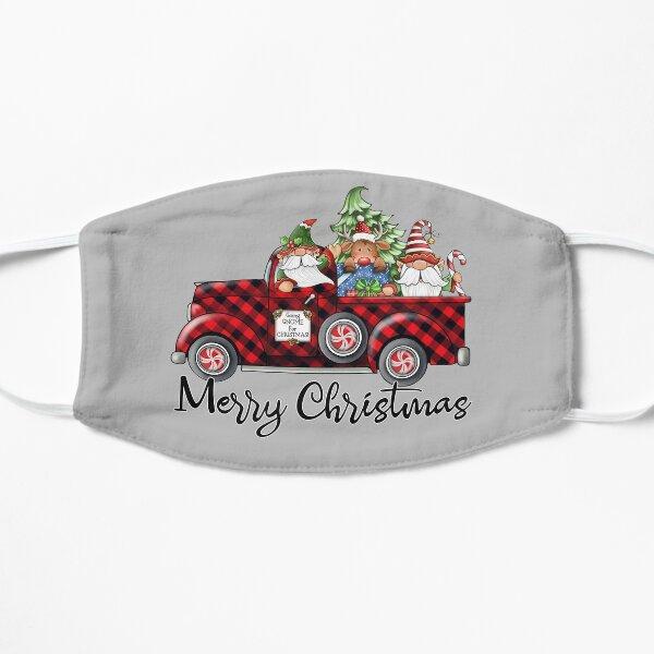Christmas Gnome in Buffalo Plaid Pick-Up Truck Flat Mask