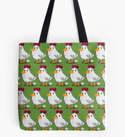 Pixel Chickens Tote Bag