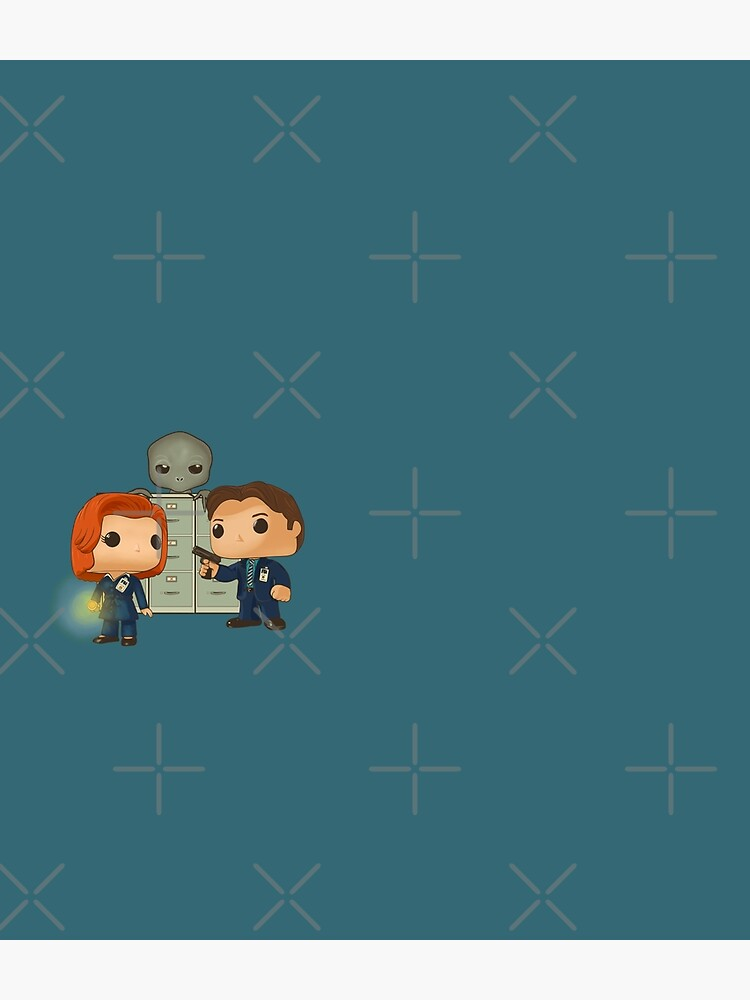 Funko pop doll of Fox Mulder  and Dana Scully by MimieTrouvetou