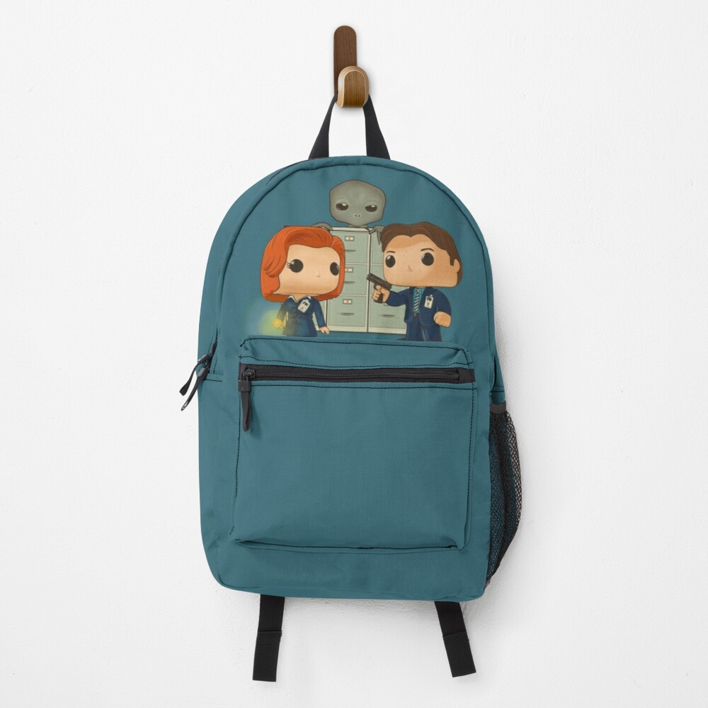 Funko pop doll of Fox Mulder  and Dana Scully Backpack