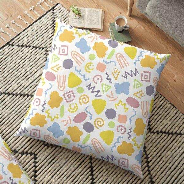 Multi-colored Doodles Floor Pillow