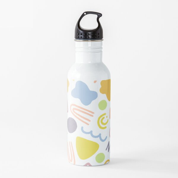Multi-colored Doodles Water Bottle