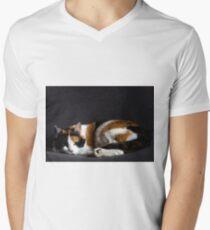 Pussy cat Mens V-Neck T-Shirt