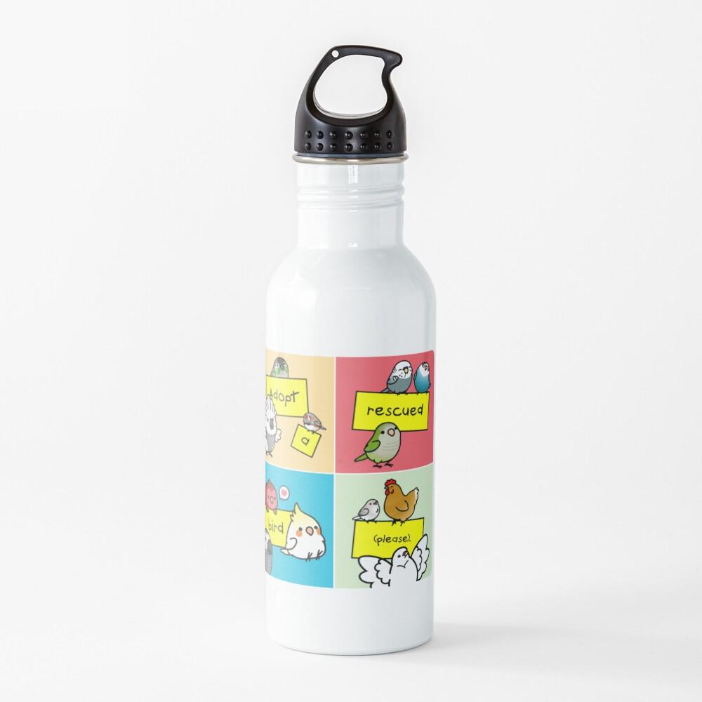 Adopt a Rescued Bird!  Water Bottle