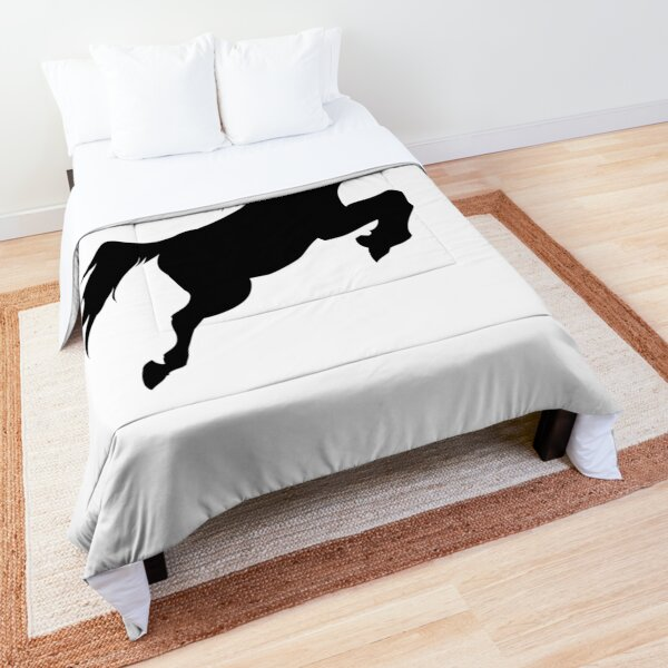 Shape of a horse jumping Comforter