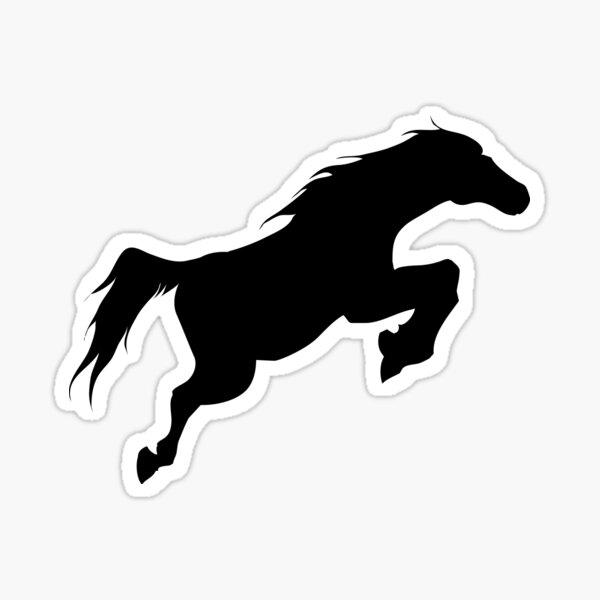 Shape of a horse jumping Sticker