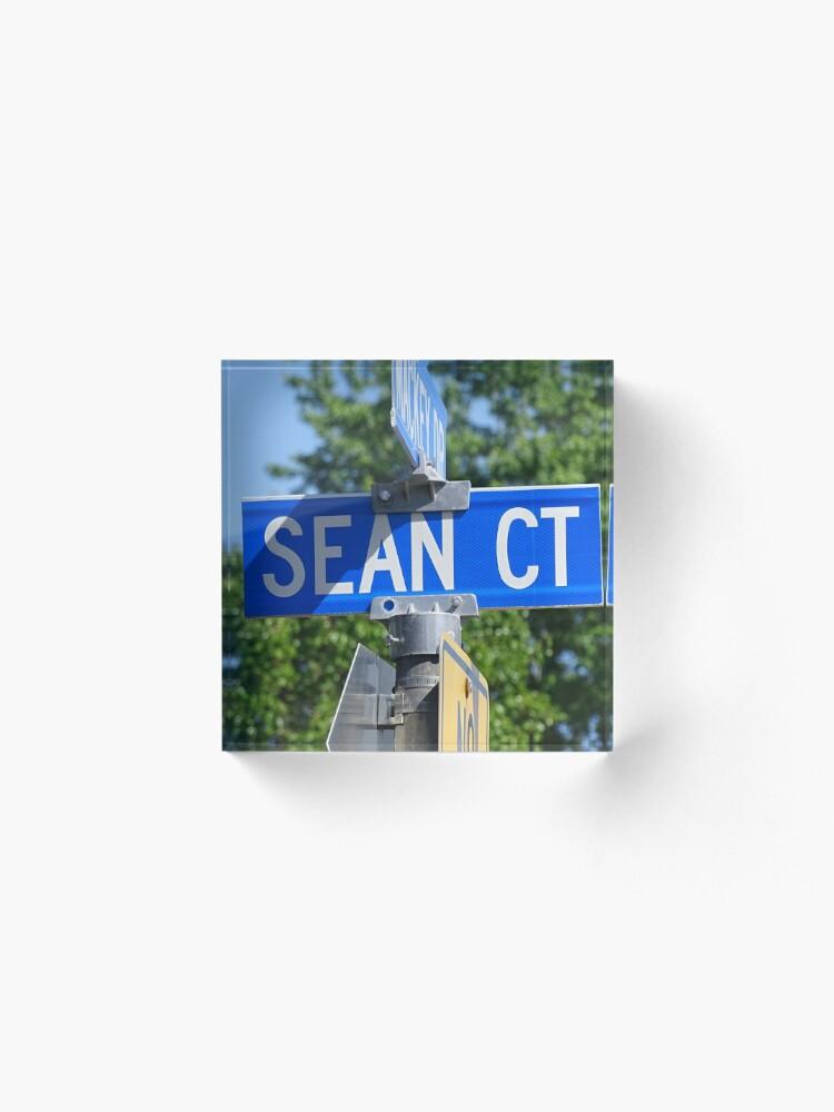 Alternate view of Sean, Sean mask, Sean socks, Sean sticker, Sean magnet, Sea puzzle Acrylic Block