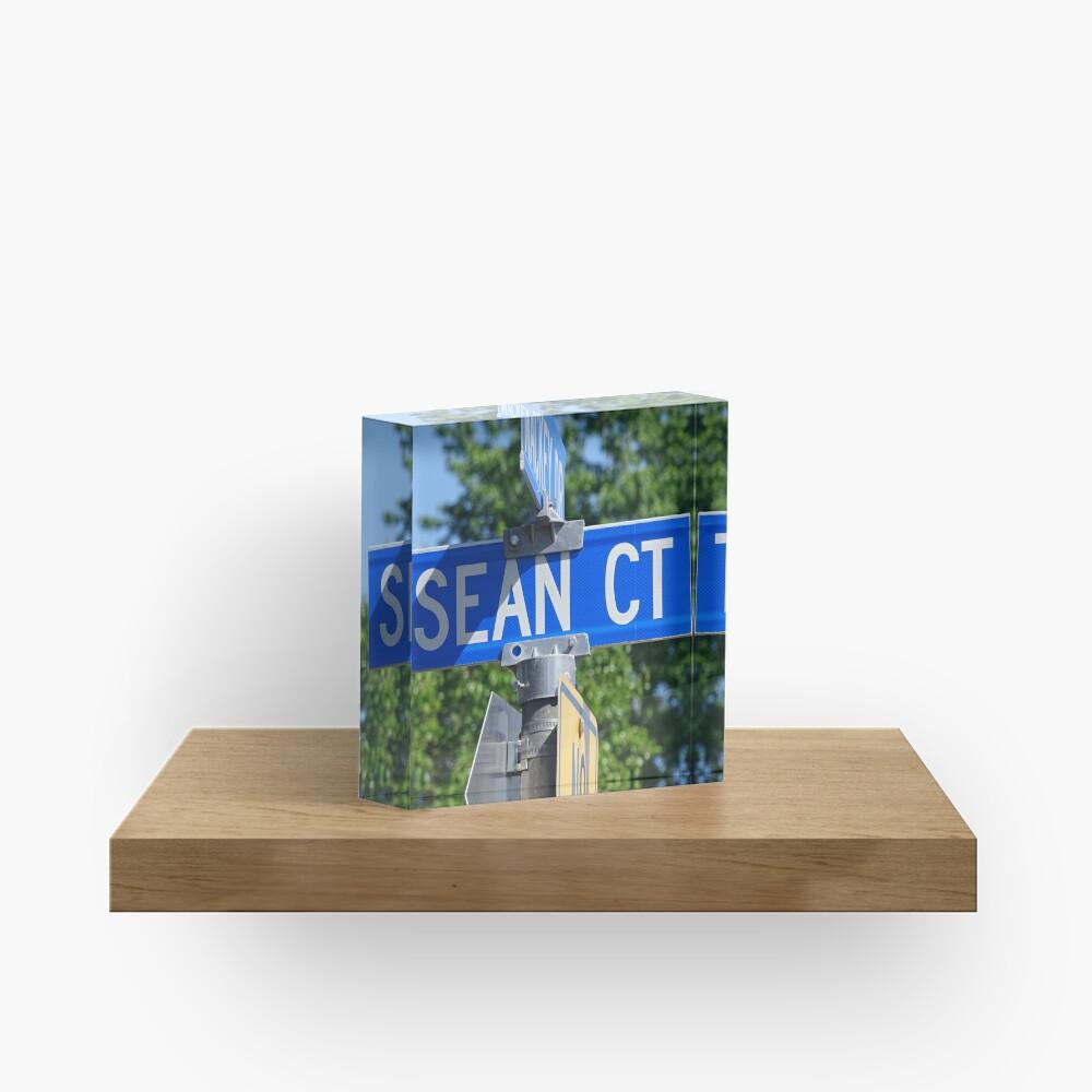 Sean, Sean mask, Sean socks, Sean sticker, Sean magnet, Sea puzzle Acrylic Block