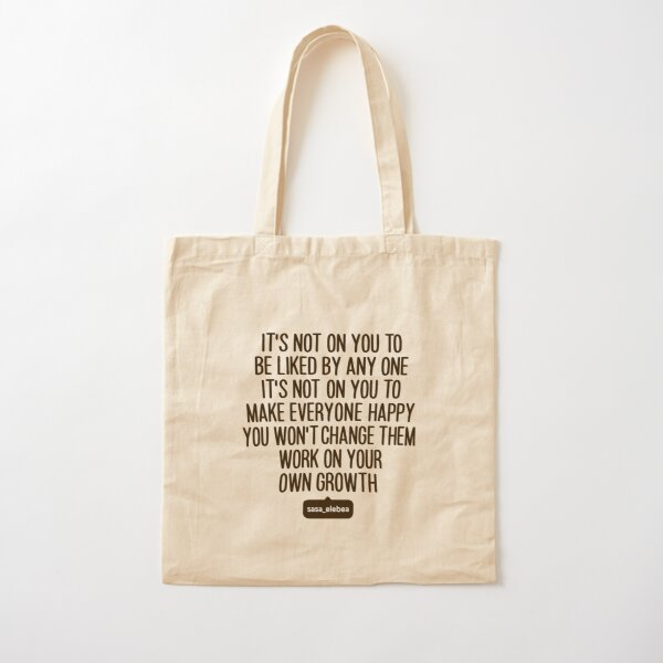 Not on you by Sasa Elebea Cotton Tote Bag