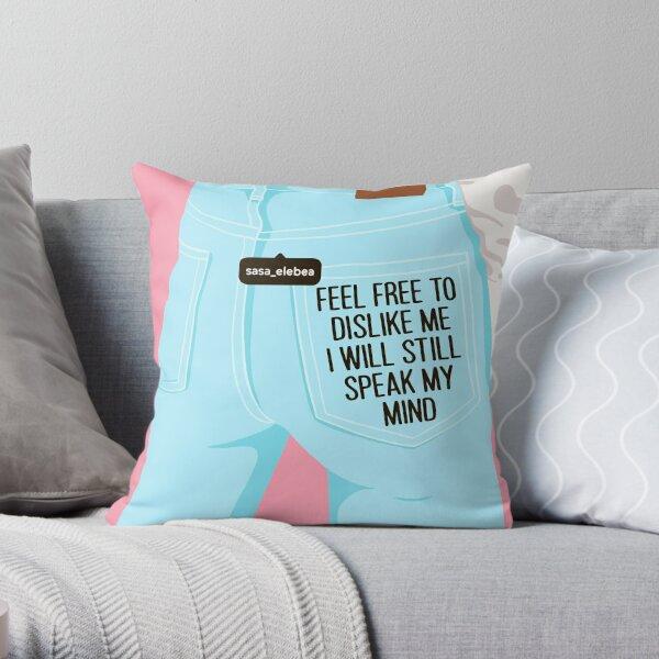Feel free by Sasa Elebea Throw Pillow