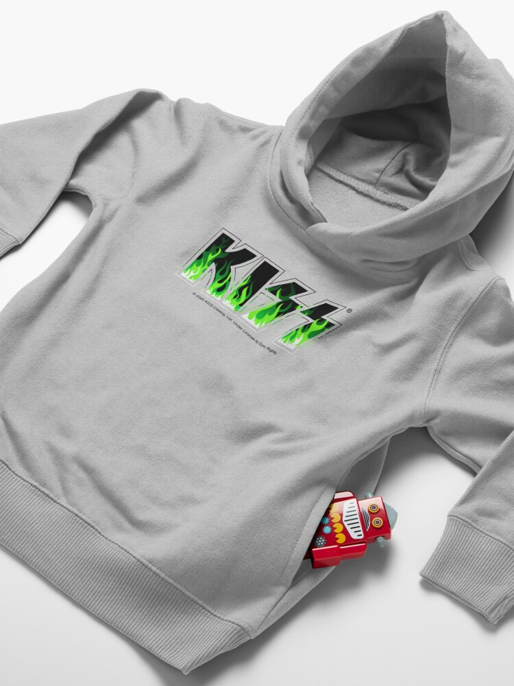 Alternate view of KISS Green Fire Toddler Pullover Hoodie