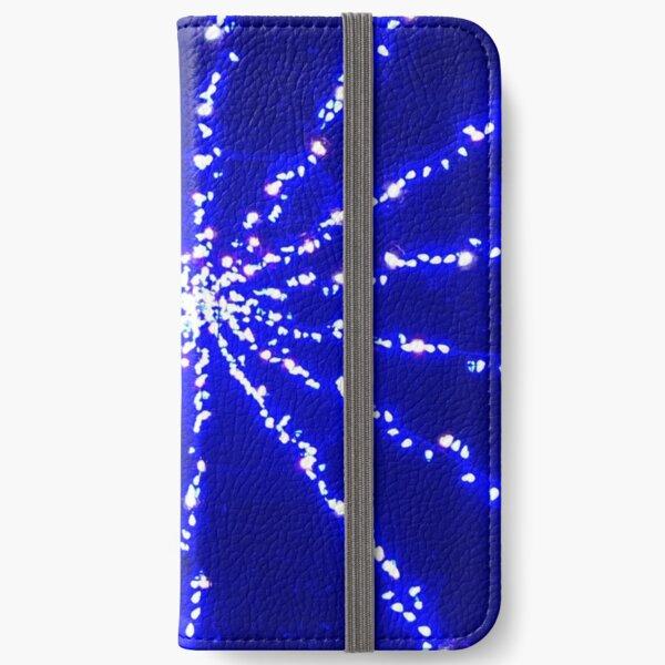Christmas cheer, Christmas lights spider web, Blue spider web socks, Blue spider web mask, Blue spider web mug,  iPhone Wallet