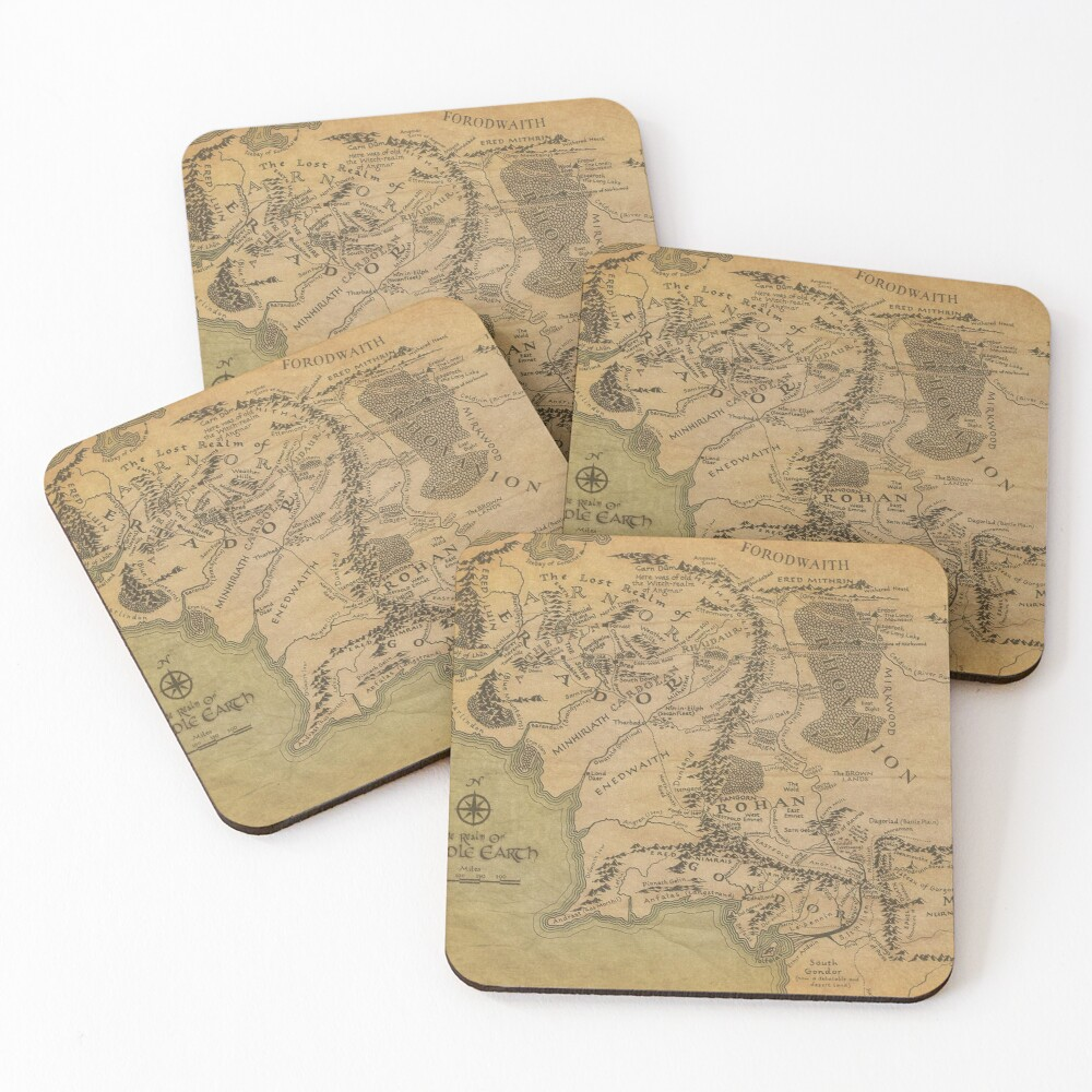 Map Coasters (Set of 4)