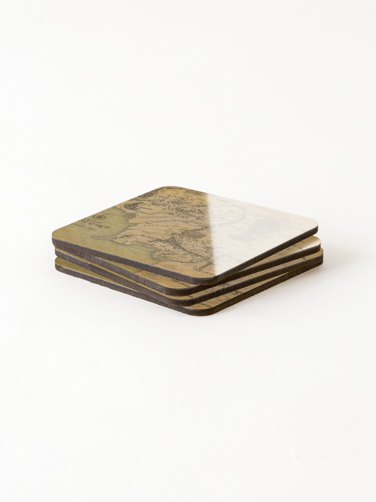 Alternate view of Map Coasters (Set of 4)