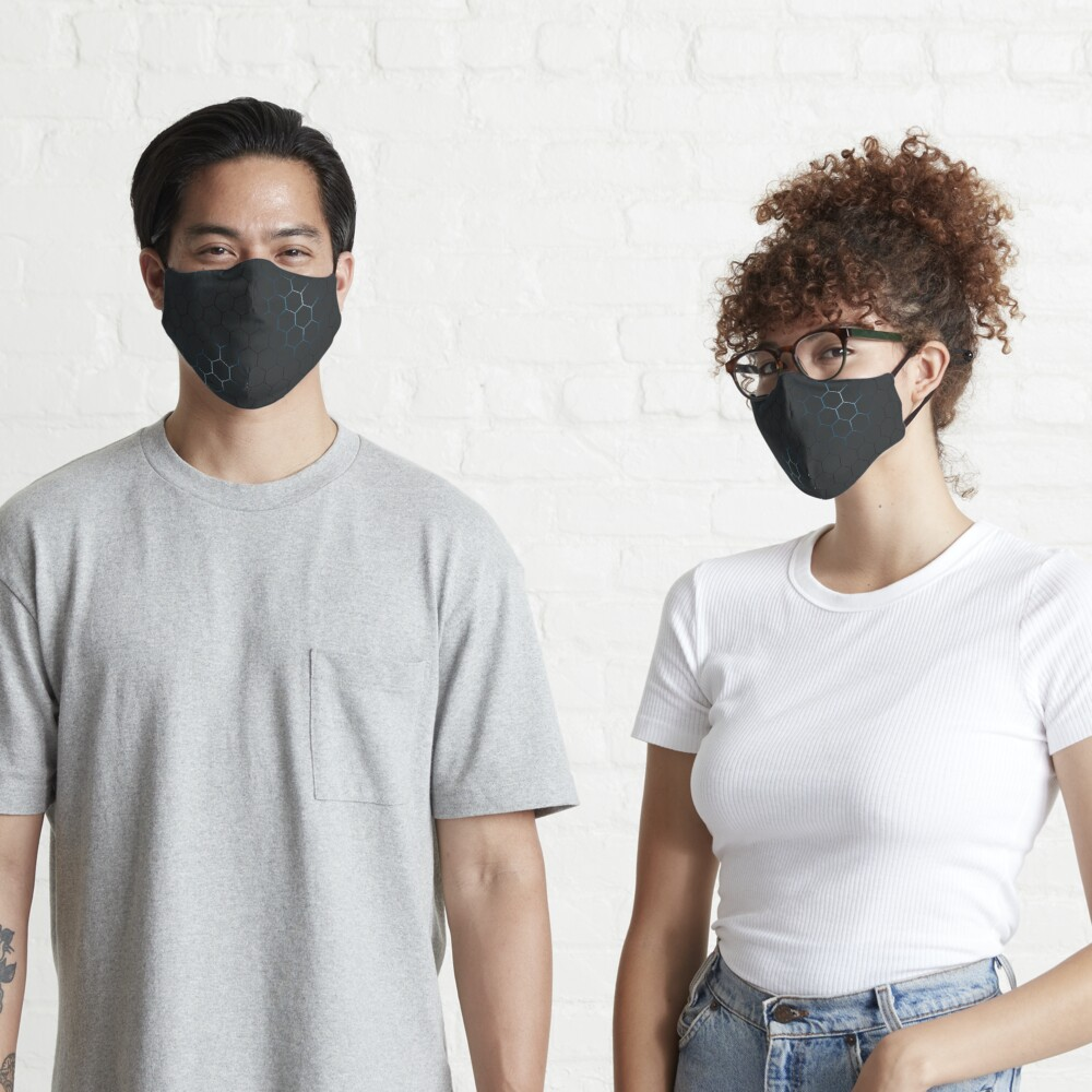 Futuristic honeycomb  Mask