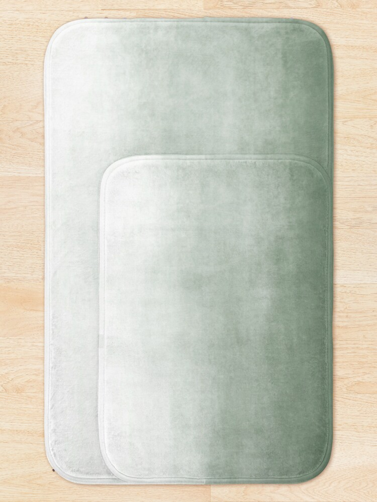 Alternate view of Ombre Paint Color Wash (sage green/white) Bath Mat