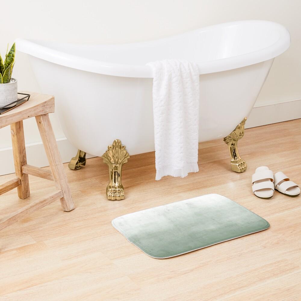 Ombre Paint Color Wash (sage green/white) Bath Mat