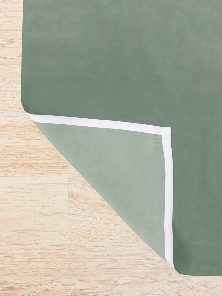 Alternate view of Ombre Paint Color Wash (sage green/white) Shower Curtain