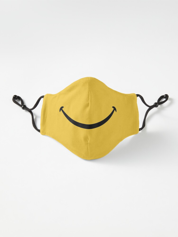 Alternate view of Happy Smile - Keep Smiling - Yellow Smiley Face Mask