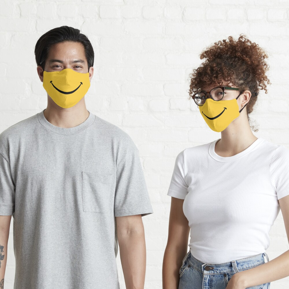 Happy Smile - Keep Smiling - Yellow Smiley Face Mask