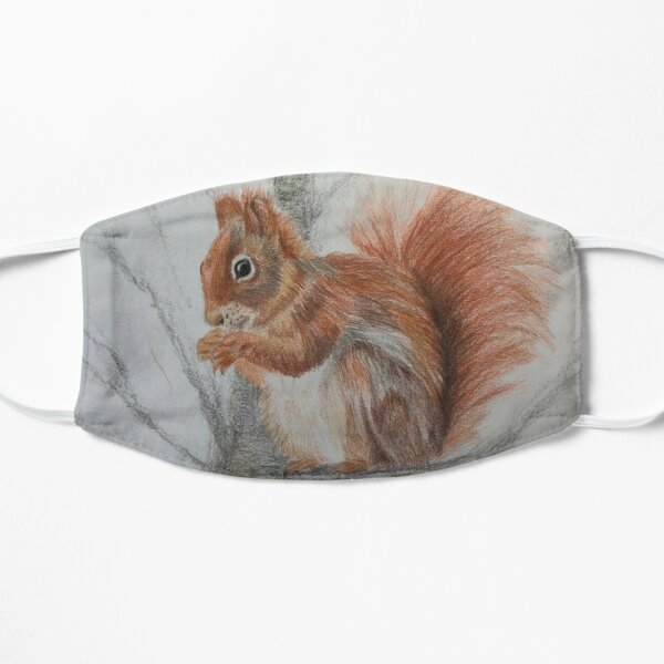 Red Squirrel in a tree Flat Mask