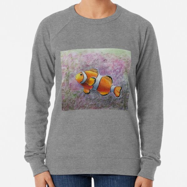 Single Clown Fish Lightweight Sweatshirt